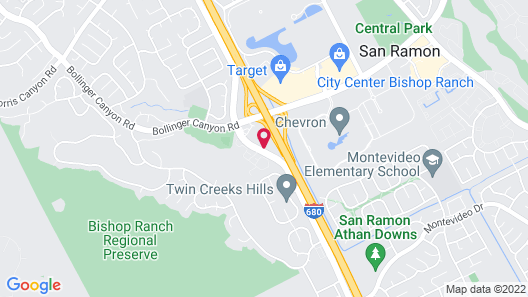 Sonesta Select San Ramon Map