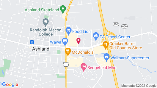 Motel 6 Ashland, VA Map