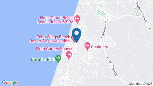 Palm Wings Beach Resort & Spa Kusadasi- All Inclusive Map
