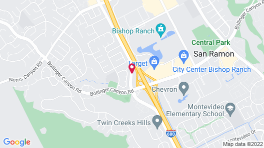 Extended Stay America San Ramon - Bishop Ranch - West Map