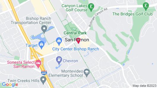 Residence Inn By Marriott San Ramon Map