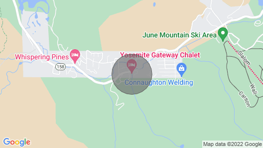 Yosemite Gateway Chalet With Outdoor Hydrotherapy Tub Map