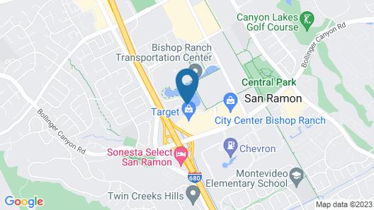 Marriott San Ramon Map