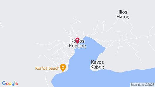 Villa Sunset - Miramar Complex Korfos Map