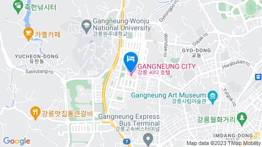 Gangneung City Hotel Map