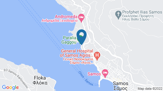 Samos Bay Hotel Map