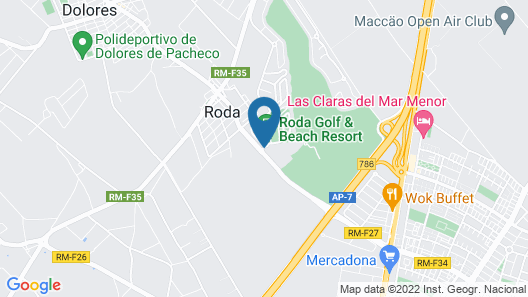 Roda Golf & Beach Resort Map