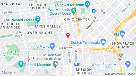 Travelodge by Wyndham San Francisco Central Map