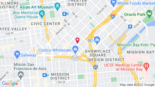 San Francisco Inn Map