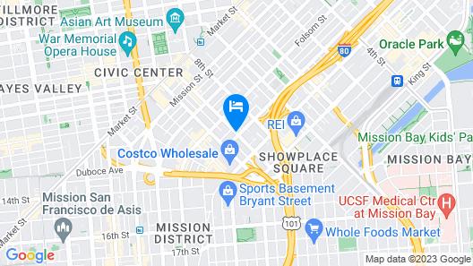 San Francisco Inn Map