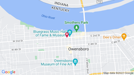 Hampton Inn and Suites Owensboro/Downtown-Waterfront Map