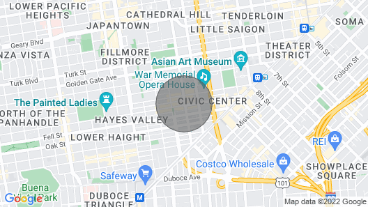 Hayes Valley Inn Map