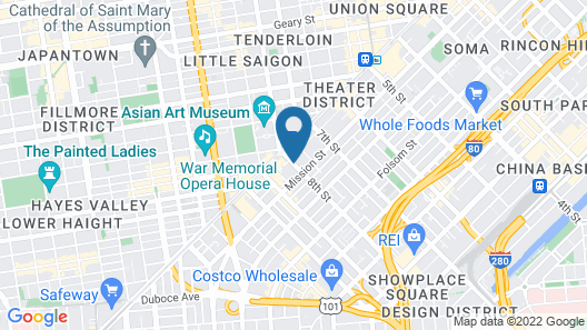 BEI Hotel San Francisco Map