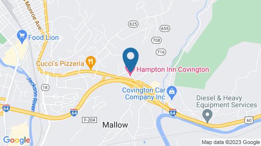 Hampton Inn Covington Map