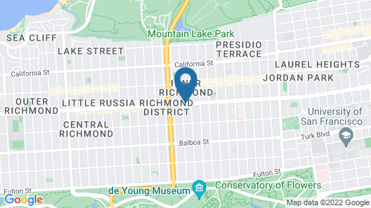 Geary Parkway Motel Map