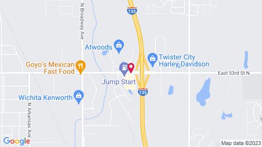 Best Western Wichita North Map