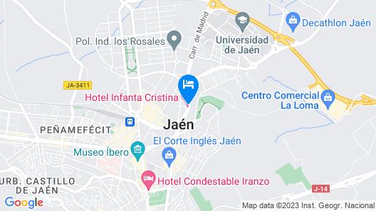 Hotel Infanta Cristina Map
