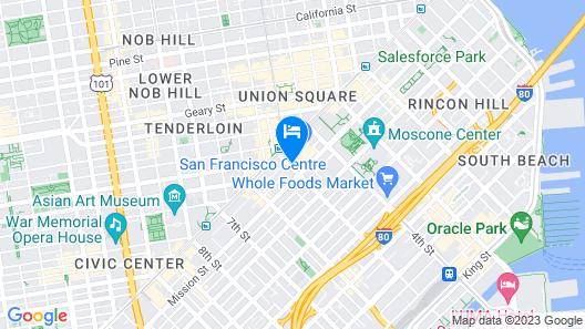Hotel Zetta San Francisco, a Viceroy Urban Retreat Map