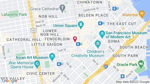 FOUND Hotel San Francisco Map