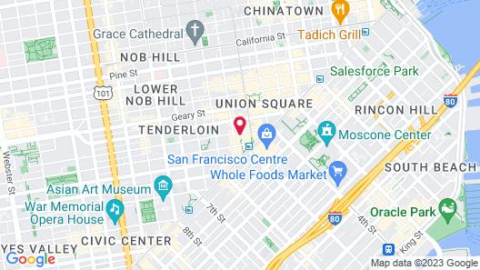 Parc 55 San Francisco - A Hilton Hotel Map