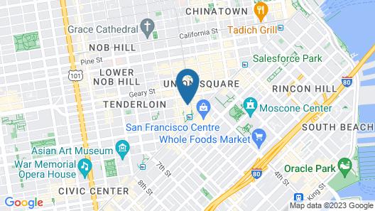 Hotel Abri - Union Square Map