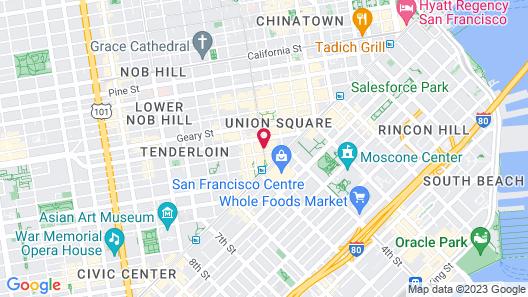 Hotel Union Square Map