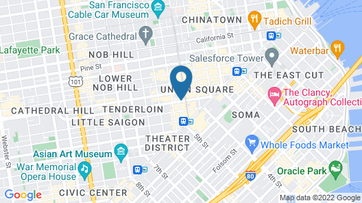 Holiday Inn Express San Francisco Union Square, an IHG Hotel Map