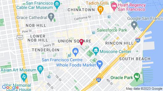 Four Seasons Hotel San Francisco Map