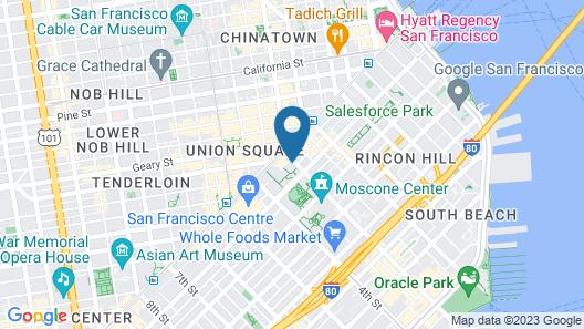The Park Central San Francisco – Hyatt affiliated hotel Map