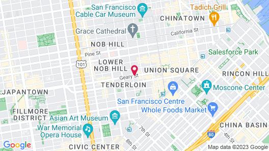 Staypineapple, An Elegant Hotel, Union Square Map