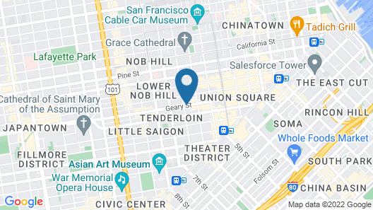 Staypineapple, An Elegant Hotel, Union Square Map