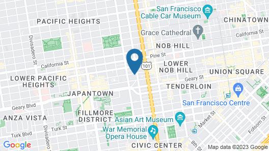 Mansion on Sutter Map