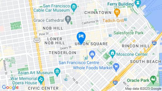 Hotel G San Francisco Map