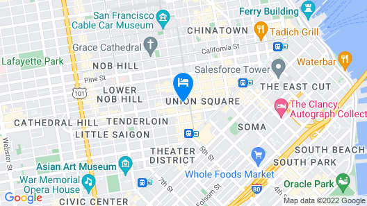 Handlery Union Square Hotel Map