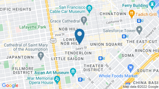 Courtyard by Marriott San Francisco Union Square Map