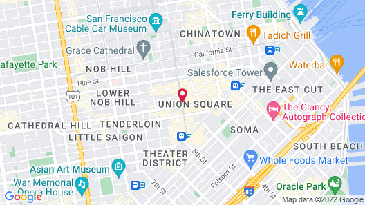 The Westin St. Francis San Francisco on Union Square Map