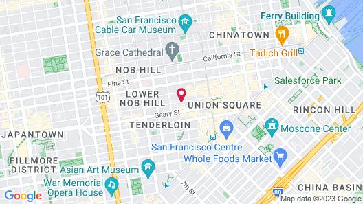 Dakota Hotel Map