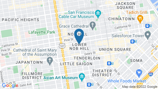 Nob Hill Hotel Map