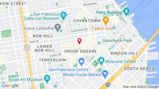 Taj Campton Place Map