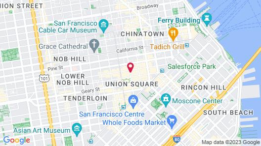 Grand Hyatt San Francisco Union Square Map