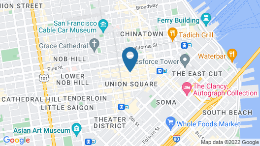 Grand Hyatt San Francisco Union Square Map