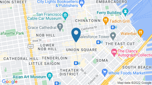 San Francisco Marriott Union Square Map