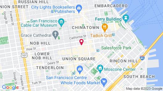 SF Plaza Hotel Map