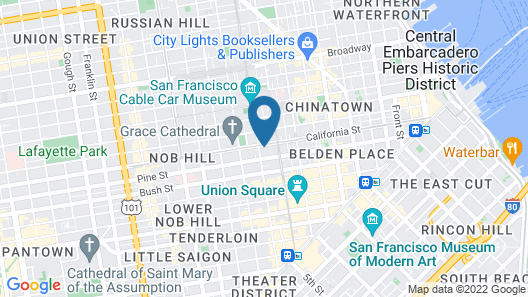 InterContinental Mark Hopkins Map