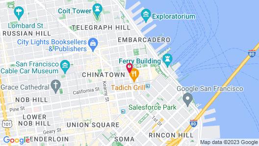 Le Meridien San Francisco Map