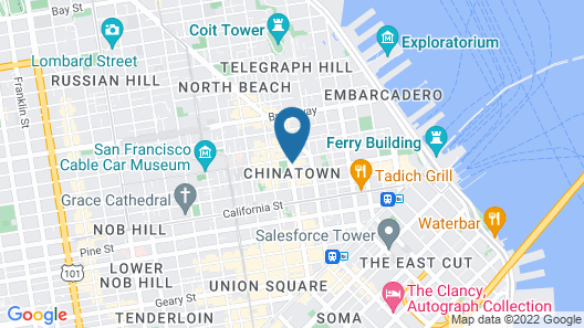 Hilton San Francisco Financial District Map