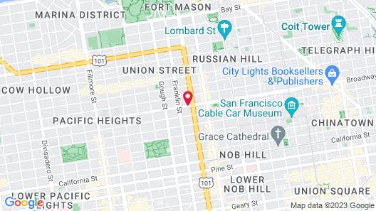 Inn on Broadway Map