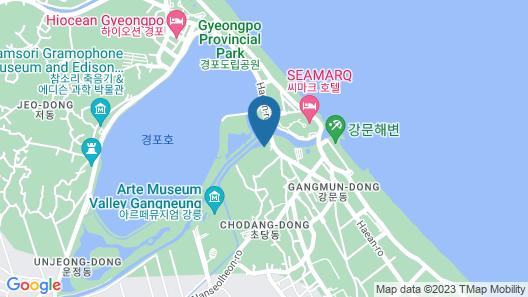 Gangneung Gyeongpogugosegamyun Pension Map