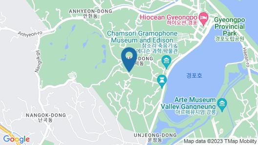 Gangneung Way to Gyeongpodae Pension Map