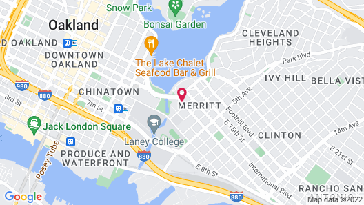 Americas Best Value Inn Oakland Lake Merritt Map